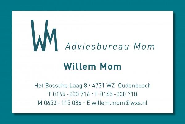 visitekaartje Adviesbureau Mom